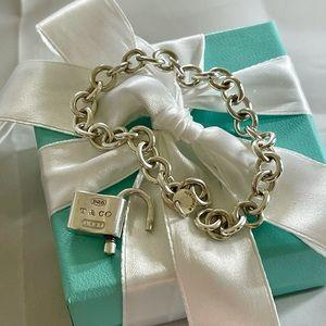 Tiffany 1837 Padlock Lock Bracelet Pouch Box Bow